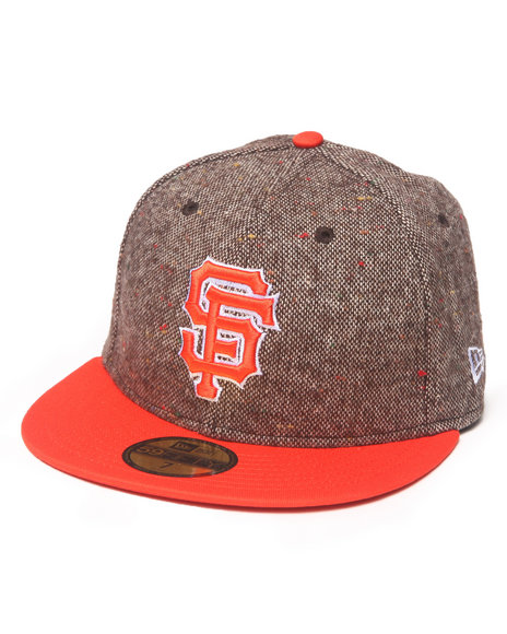 New Era - Men Brown San Francisco Giants Tweed Crest 5950 Fitted Hat
