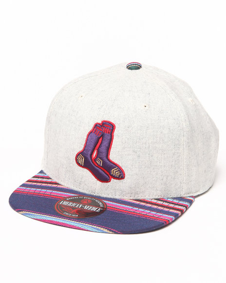 American Needle Boston Red Sox Spice Remix Flannel Adjustable Hat Multi