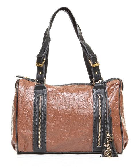 Coogi Barren Satchel Handbag Tan