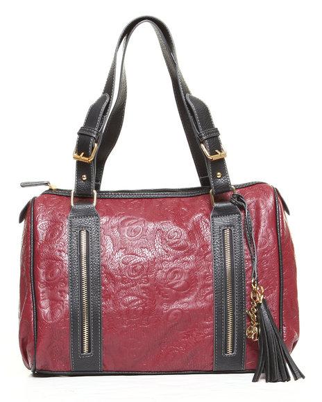 Coogi Barren Satchel Handbag Red