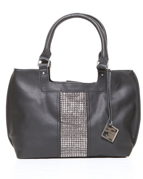 Rocawear Women Natasha Bling Trim Tote Black 1SZ