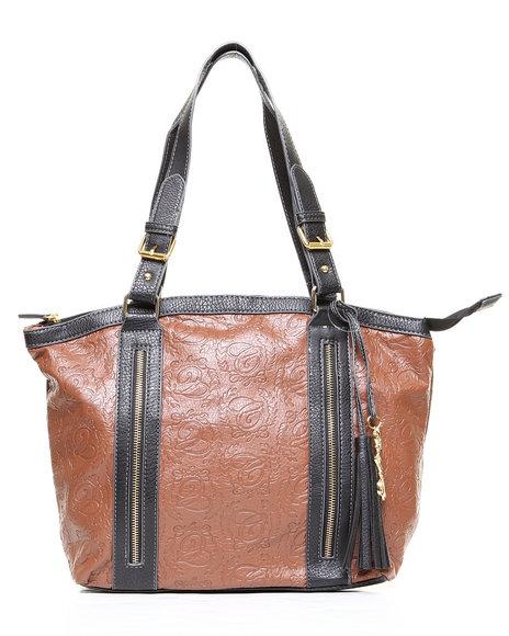 Coogi Barren Tote Handbag Tan