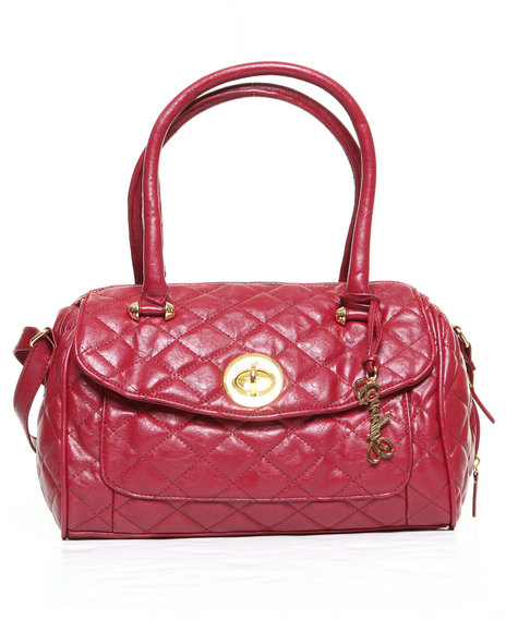 Coogi Amber Quilted Satchel Red