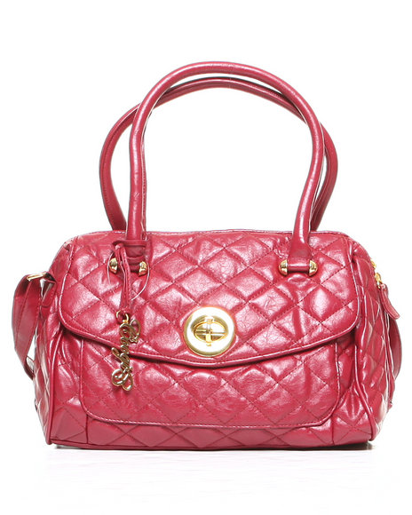 Coogi Amber Quilt Handbag Red