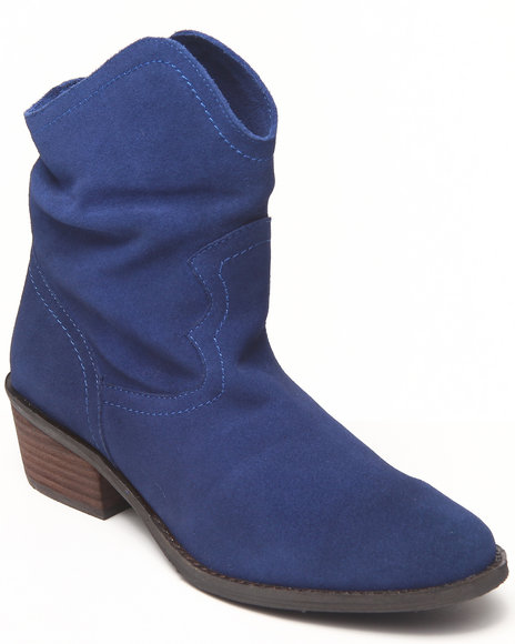 Naughty Monkey - Women Navy Smoking Hot Real Suede Bootie