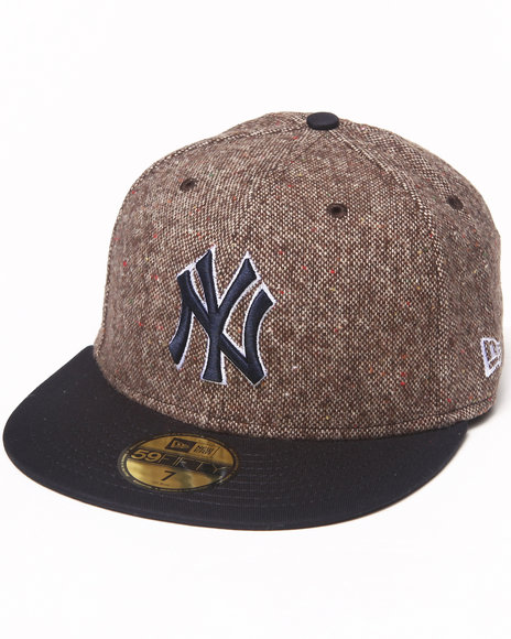 New Era - Men Brown New York Yankees Tweed Crest 5950 Fitted Hat