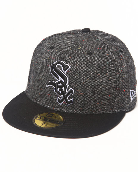 New Era - Men Black Chicago White Sox Tweed Crest 5950 Fitted Hat