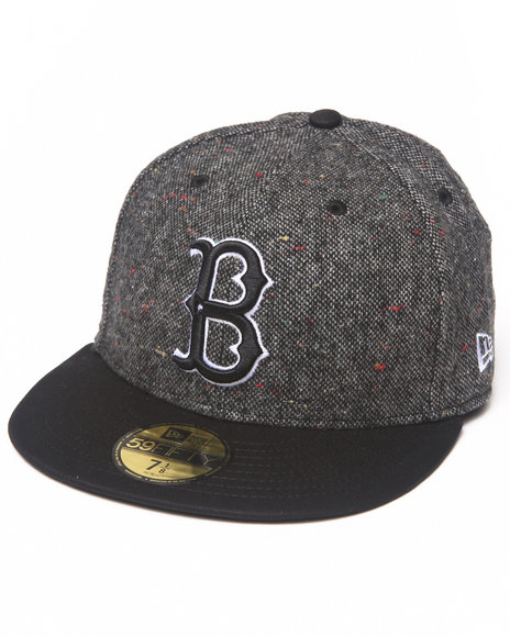 New Era - Men Black Brooklyn Dodgers Tweed Crest 5950 Fitted Hat