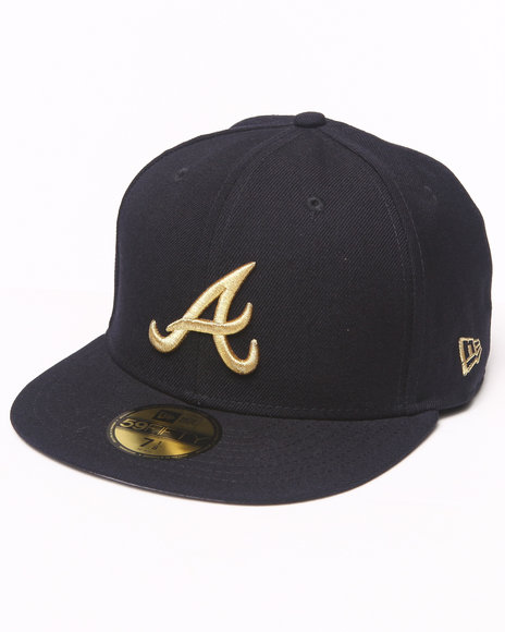 New Era - Men Black Atlanta Braves 59Th Anniversary Side Patch 5950 Fitted Hat