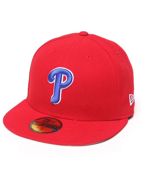 New Era - Men Red Philadelphia Phillies Team Patch 5950 Fitted Hat