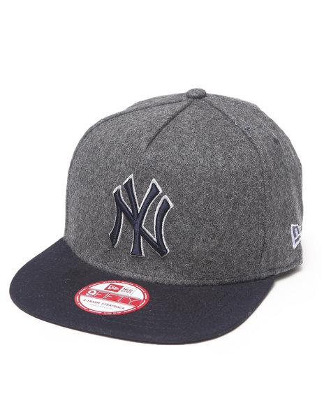 New Era - Men Grey New York Yankees Classic Melton Snapback Hat (A-Frame)