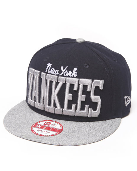 New Era - Men Navy New York Yankees Ne V-Team Snapback Hat