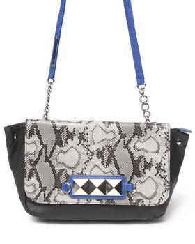 XOXO - Kyrah Python Grommet Trim Shoulder Bag