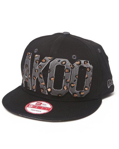 Akoo Men Akoo Flipside New Era Snapback Cap Black 1SZ