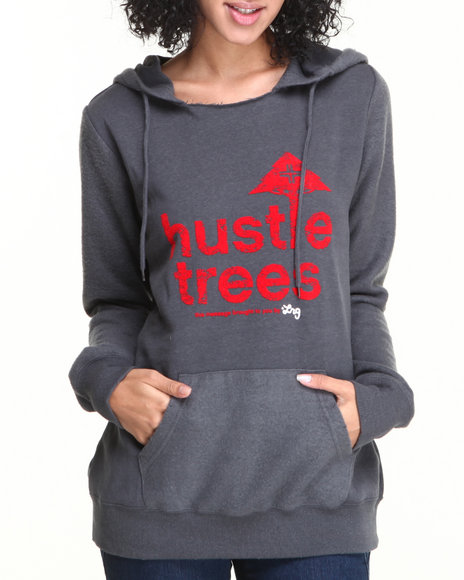 LRG Grey Blogger Pullover Hustle Trees Hoodie
