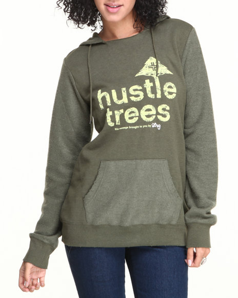 LRG Olive Blogger Pullover Hustle Trees Hoodie