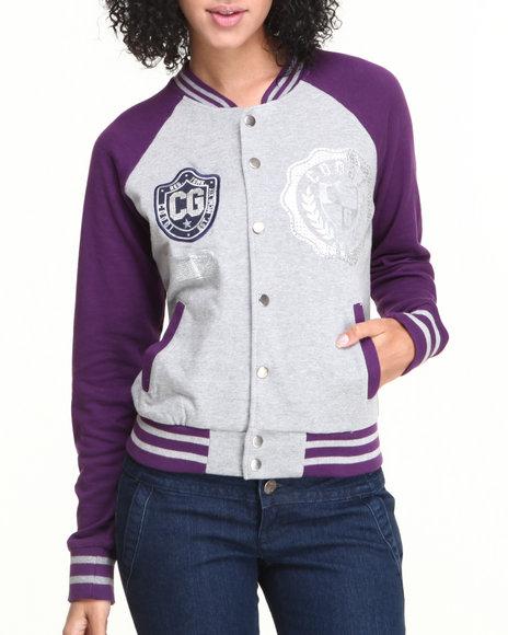 COOGI Grey Varsity Jacket