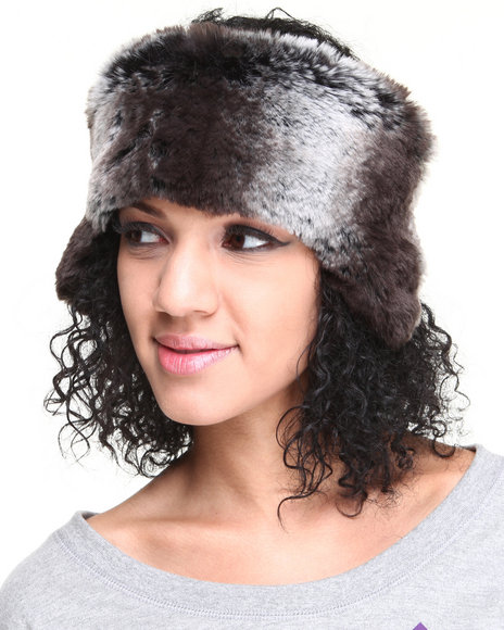 Drj Accessories Shoppe Women Faux Fur Headband W/Earcaps Grey
