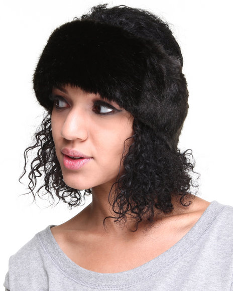 Drj Accessories Shoppe Women Faux Fur Headwrap Or Collar Black
