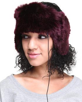 DRJ Accessories Shoppe - Faux Fur Headband w/earcaps headphones