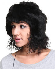 Women - Faux Fur Headband w/earcaps headphones