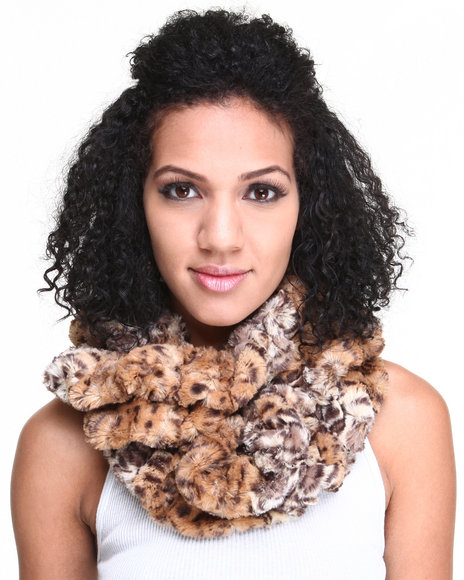 Drj Accessories Shoppe Women Faux Fur Infinity Scarf Animal Print - $11.99