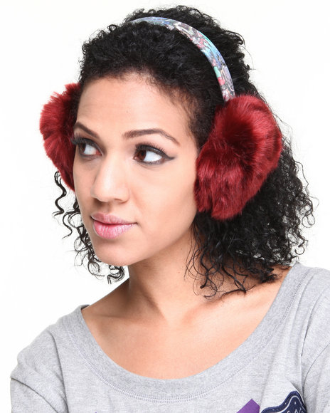 DRJ Accessories Shoppe - Faux Fur Earmuff W/ Graffiti Band