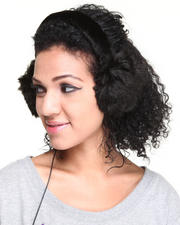 Women - Faux Fur Earmuffs w/headphones