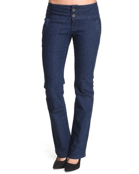 Basic Essentials - Women Indigo Sateen Bootcut Pants