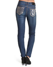 Skinny - Studded Back Pocket Jean