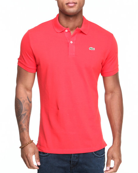 Lacoste - Men Red S/S Slim Fit Pique Polo