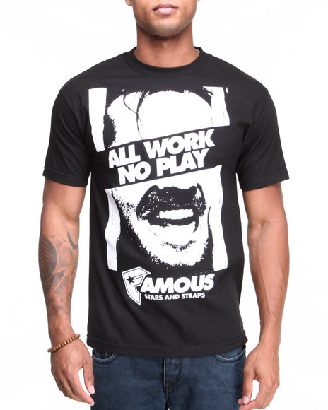 Famous Stars & Straps Black All Work Tee