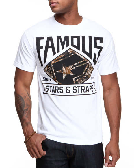 Famous Stars amp Straps Men Deer Hunter Tee White XLarge