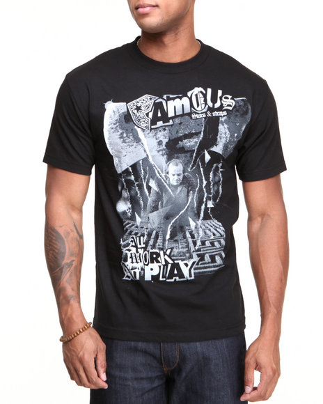 Famous Stars & Straps - Men Black Static Maze Tee