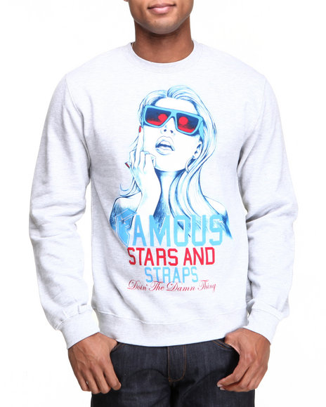 Famous Stars & Straps Grey F N Right Crewneck Sweatshirt
