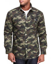 Men - Inland Long Sleeve Camo Woven Shirt