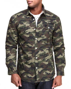 Famous Stars & Straps - Inland Long Sleeve Camo Woven Shirt