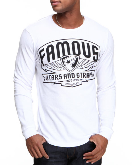 Famous Stars & Straps - Men White Brigade Patch Thermal