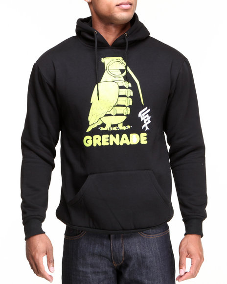 Grenade Black G.A.S. Jeremy Fish Pullover Hoodie