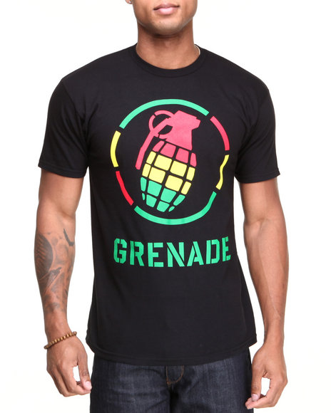 Grenade Men Rasta Stenz Tee Black XLarge