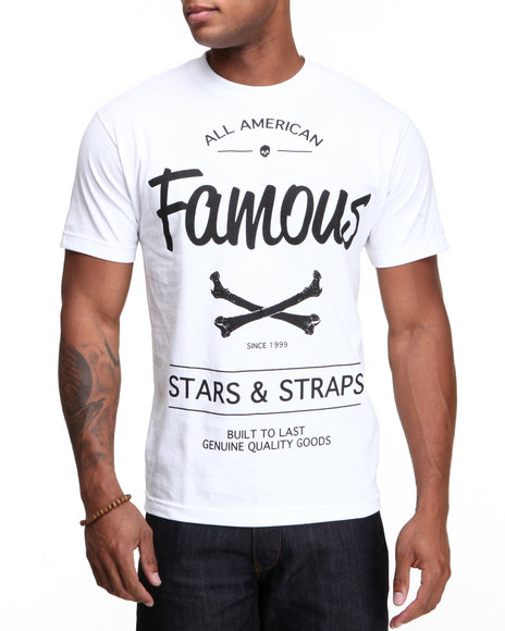Famous Stars & Straps White Built To Last Tee