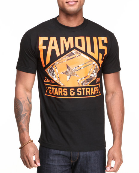 Famous Stars amp Straps Men Deer Hunter Tee Black XLarge