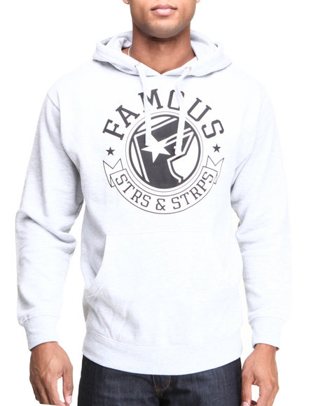 Famous Stars & Straps Grey The Pride Men's Pullover Hoodie