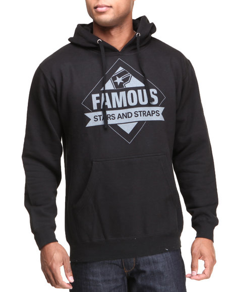 Famous Stars & Straps Black Tri State Pullover Hoodie