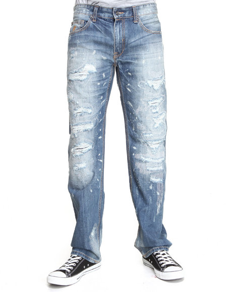 Rocawear Dark Wash Havoc Straight Fit Jeans