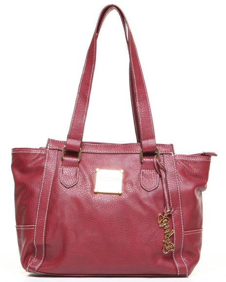 Coogi Grainy Tote Handbag Maroon