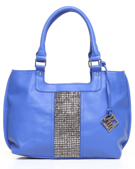 Rocawear Women Natasha Bling Trim Tote Blue 1SZ