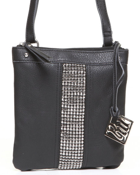 Rocawear Women Natasha Bling Trim Crossbody Black 1SZ