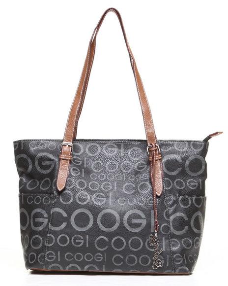 Coogi Women Melissa Signature Grid Print Handbag Black 1SZ