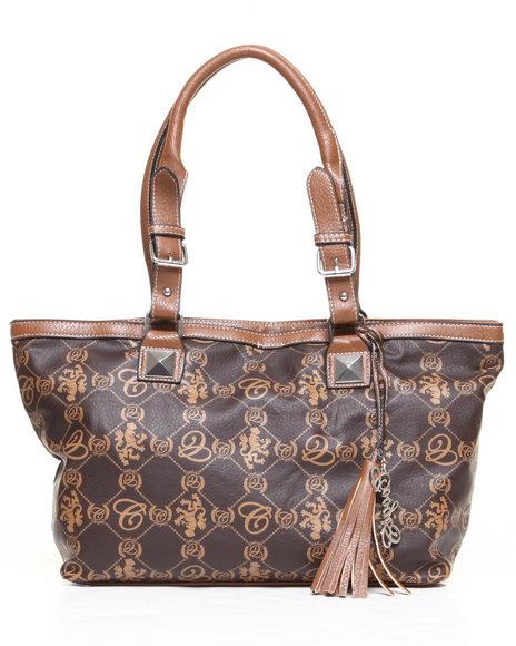 Coogi Grace Tote Handbag Brown